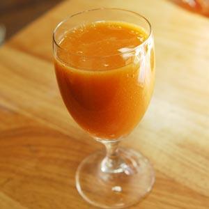 柿・オレンジジュース
