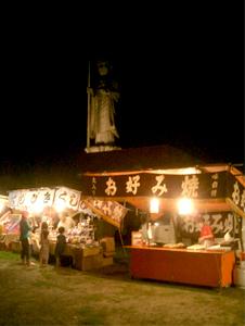 平和公園の夜店「お好み焼き屋」